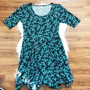 LulaRoe Nicole Floral Plus Dress